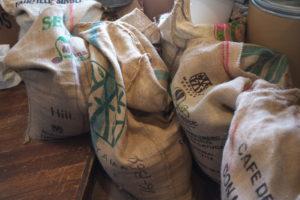 農園から届いた豆