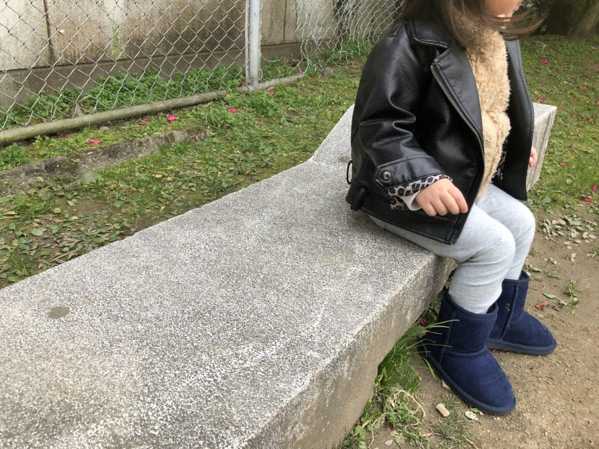 子どもサイズのベンチ