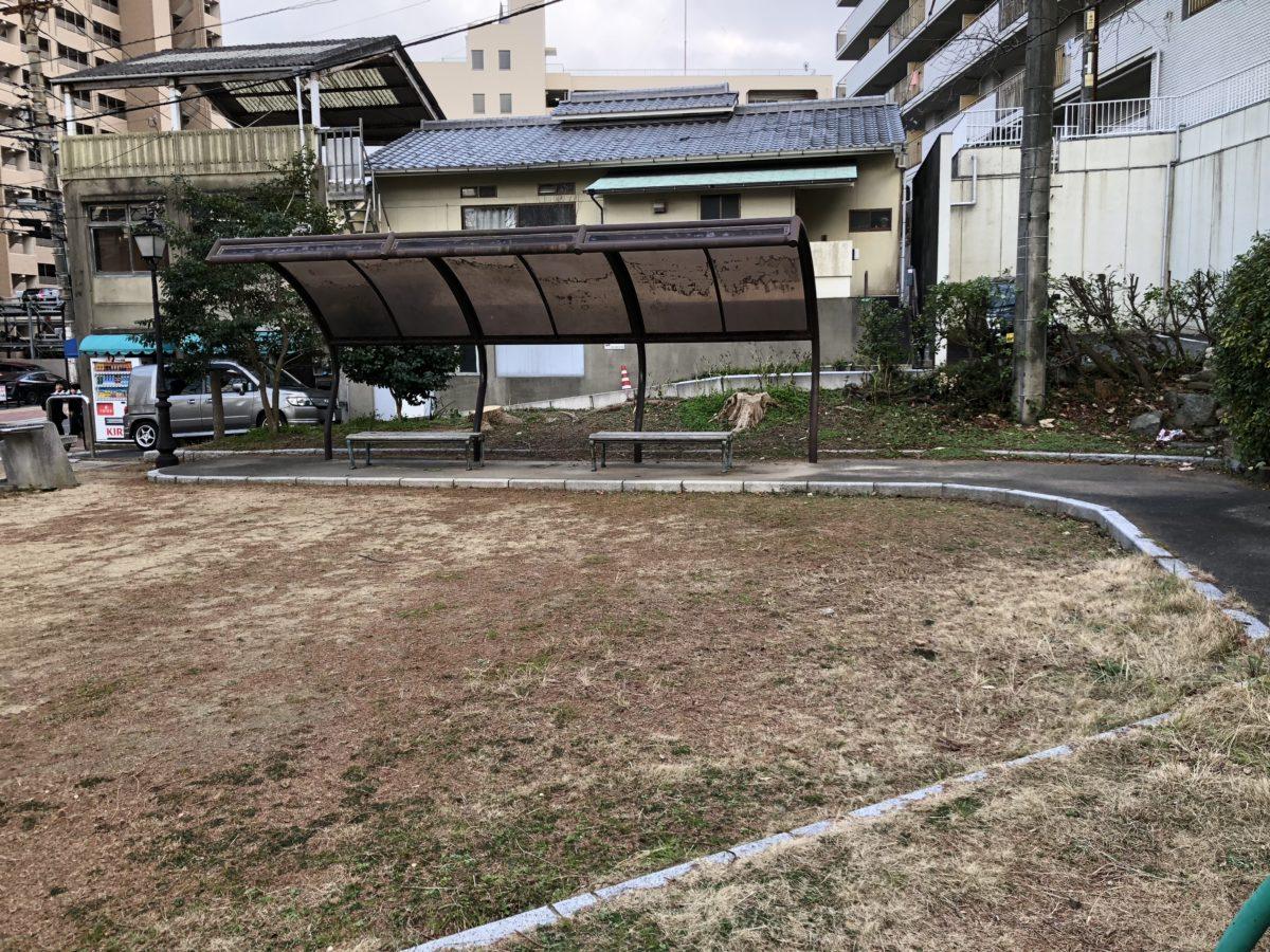 寿公園屋根付きベンチ